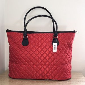 Crabtree & Evelyn red large tote bag New with tag